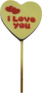 Lollipop 22g - Heart - edible printing