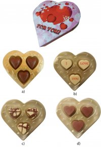 Heart in Blister Pack 3x8g, 3x11g