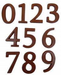 Chocolate numbers 11g - 21g