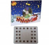 Adventskalender A4 50g mit CD-Platte