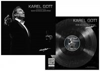 Gramophone Record 60g - Karel Gott figure (black)