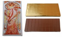 Chocolate 450g - Mucha (woman with flowers)